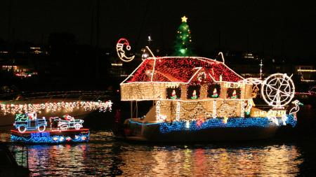 Christmas Boat Parade Newport Beach.Hopkins Orange County Newport Beach Christmas Boat Parade